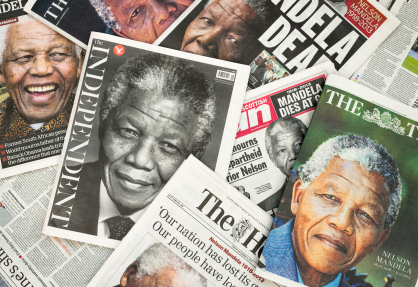 Nelson Mandela tributes on British newspaper front pages