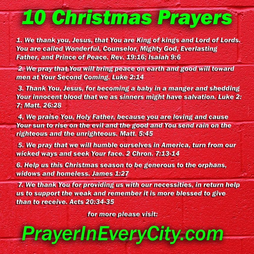 10 Christmas Prayers Prayer In Every City