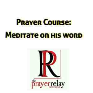 Be Bold Meditate on his word