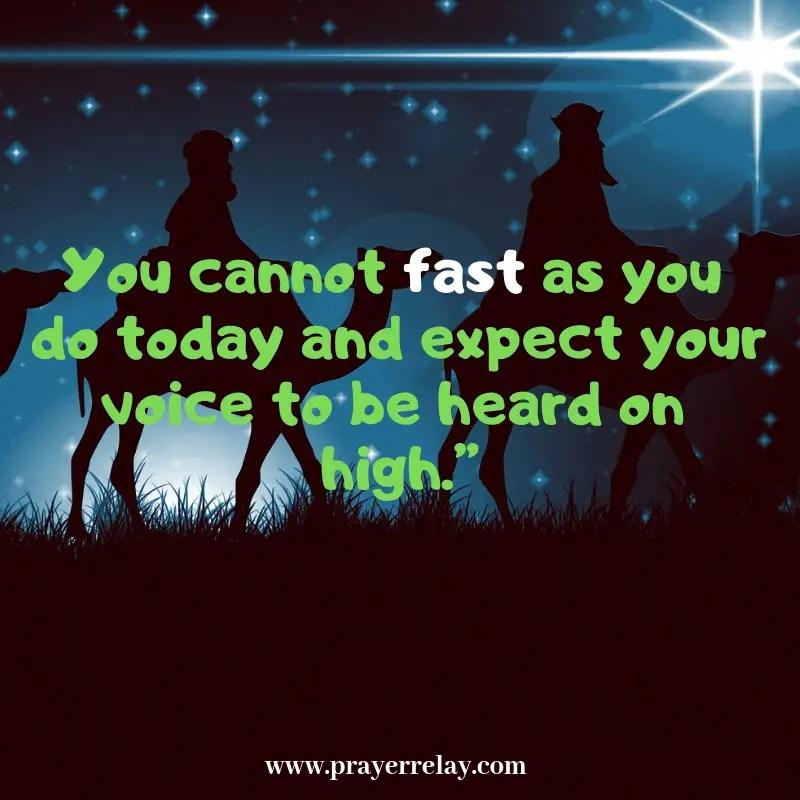 Isaiah 58 True Fasting and Prayer