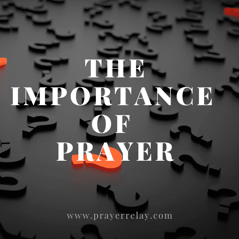 Importance of prayer
