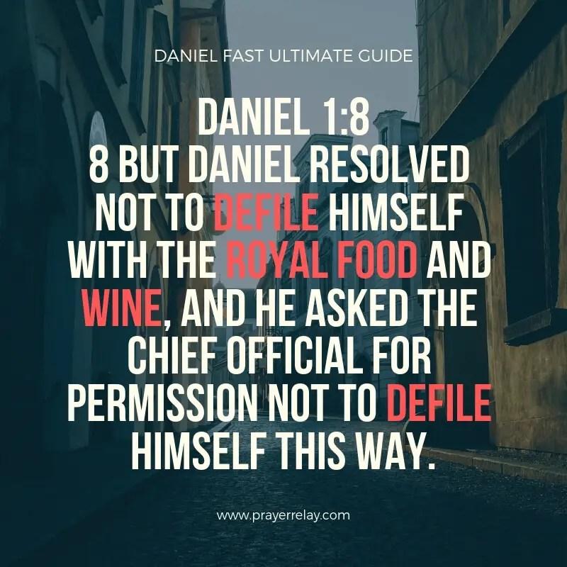 Daniel Fast guide