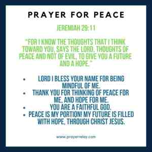 88 Powerful Personal and Intercessory Prayer for Peace Points