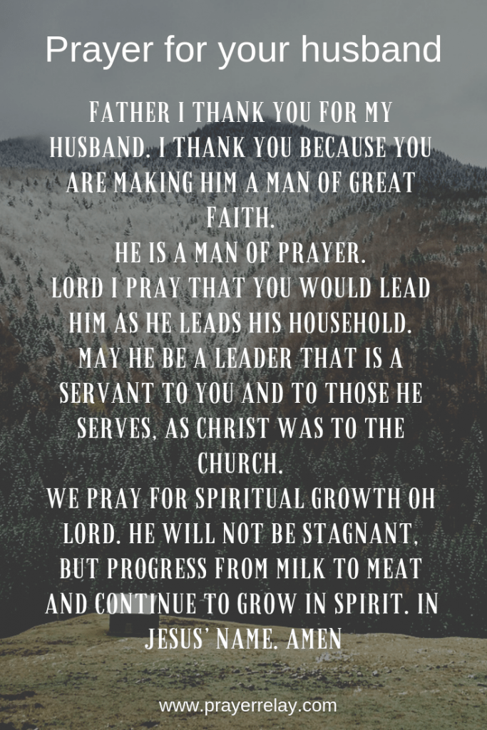 pray for your husband to be a leader