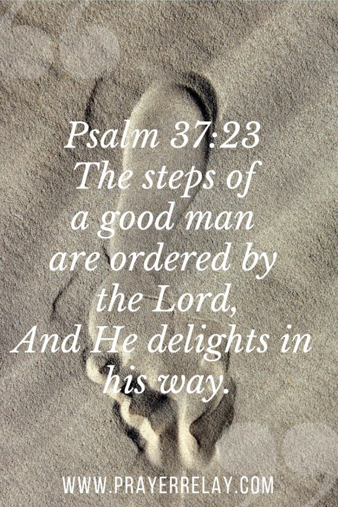 Psalm 37:23 The steps of a good man
