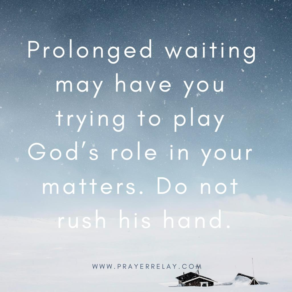 prolonged waiting