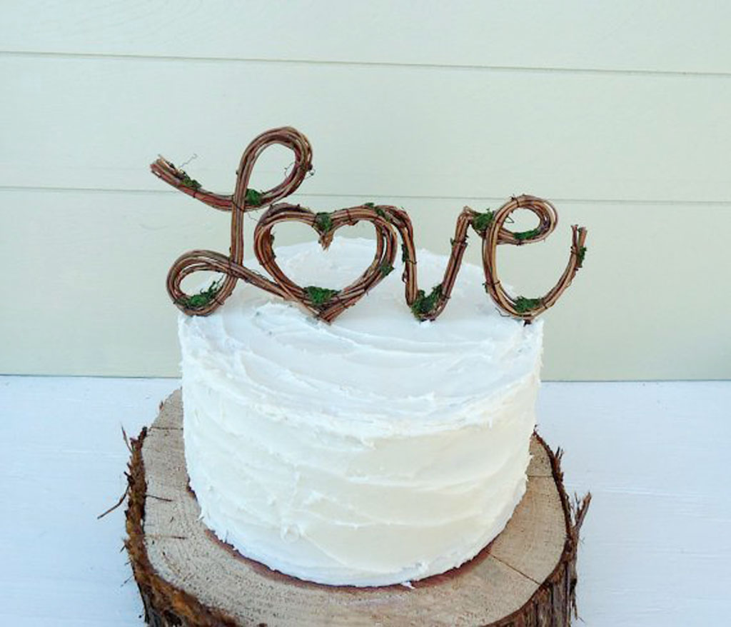 Vintage Rustic Wedding Cake Toppers Wedding Cake