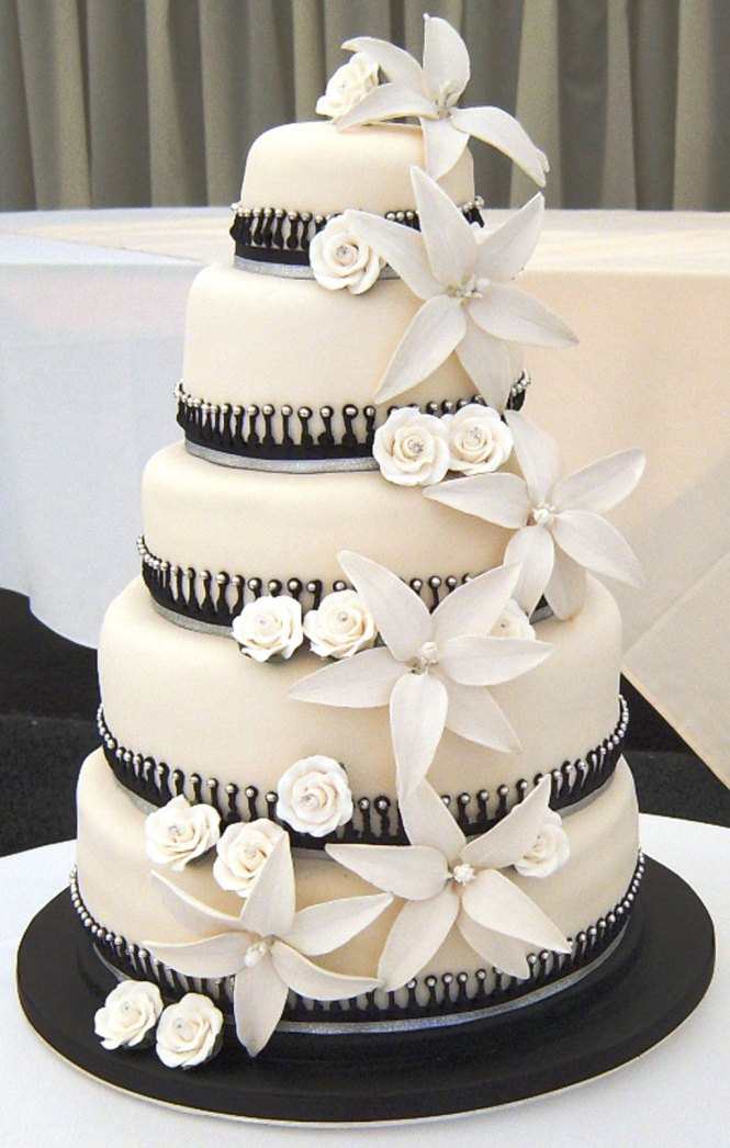 Black And White Wedding Cakes 143 Pictures Decoration Simple