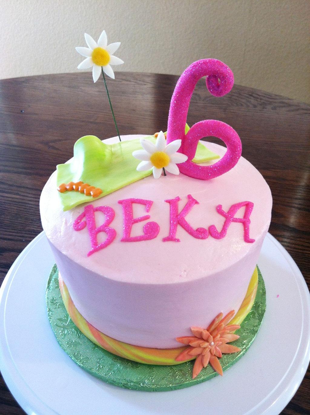 Flower Birthday Cake For Kids Birthday Cake