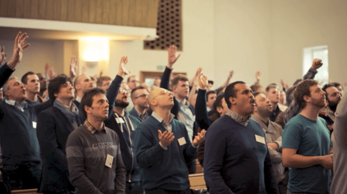 Italians worshipping
