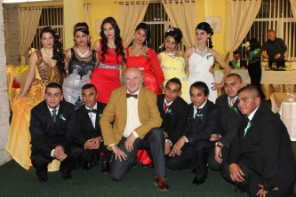 """Jon attended a """"prom"""" event for graduating students from the Roma high school in Kezmarok."""