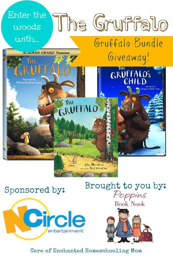 enter the woods with the gruffalo