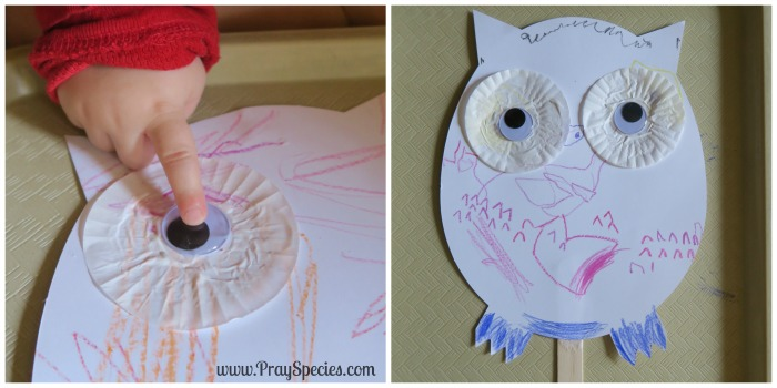 snow owl puppet Collage