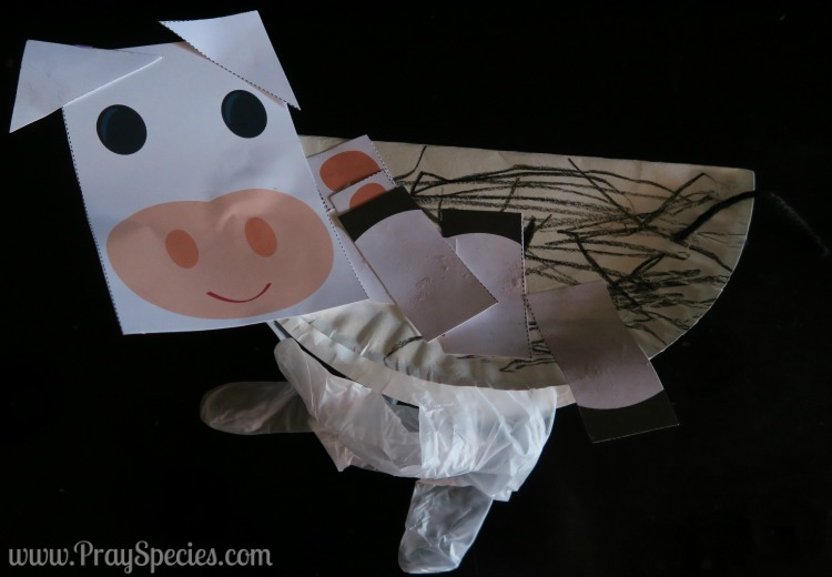 two year olds cow craft
