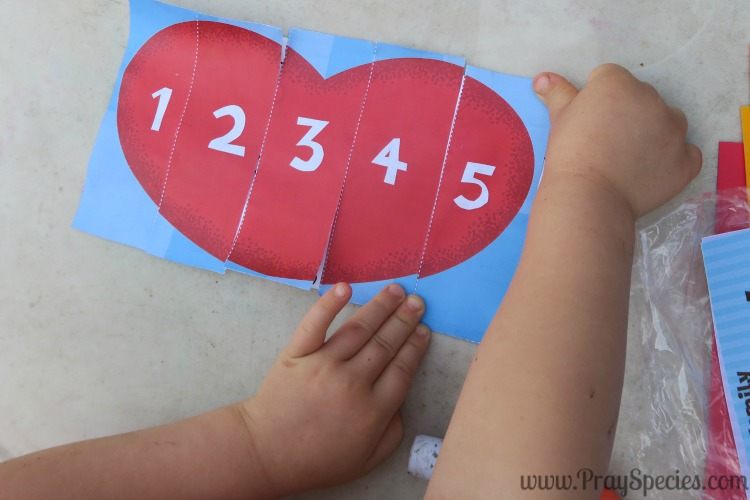Making the numbered heart