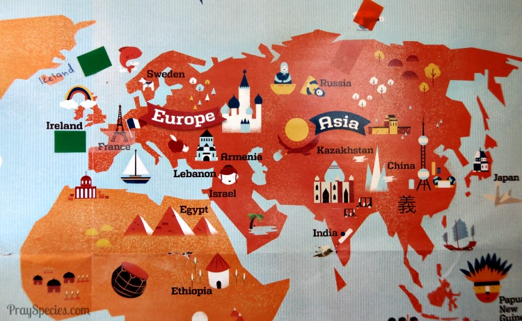 Labeling the Map in Give Your Child the World