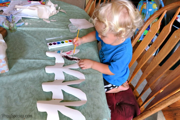 painting paper dolls