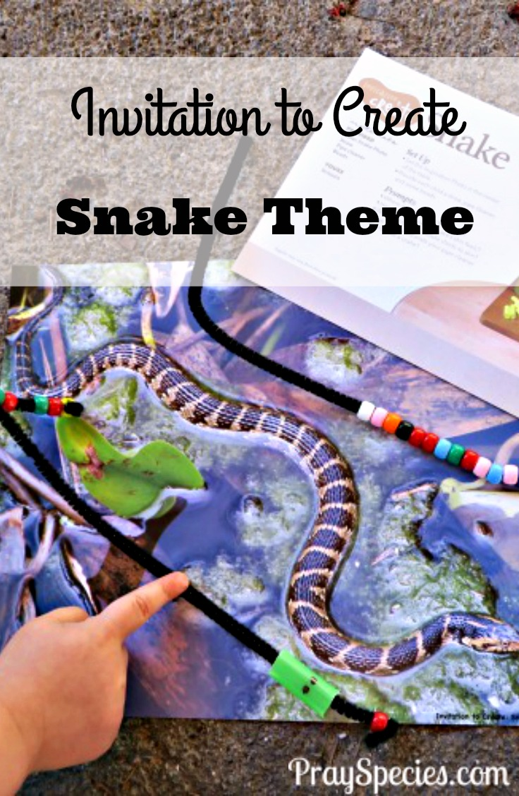 The kids loved playing with beads, straws, and pipe cleaners. I never expected to end up with a rattlesnake and a cannon, but that's part of the fun with an invitation to create!