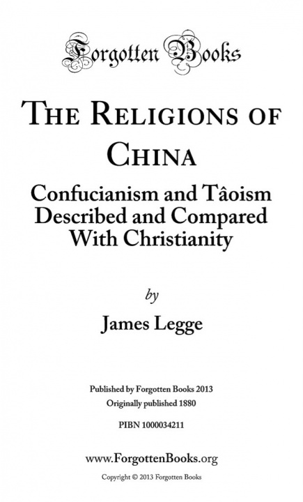 Image of The Religion of China Title Page