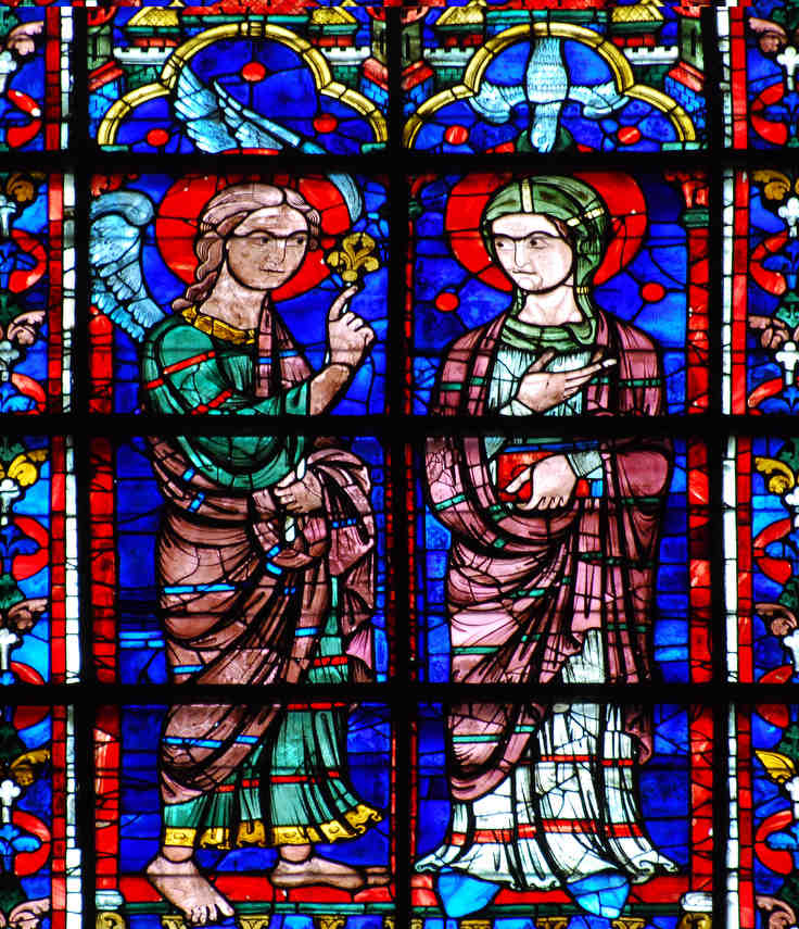 Apsidal image of the Annunciation, 13th century
