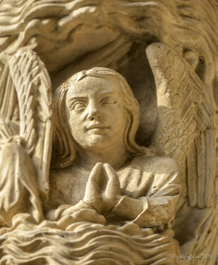 Angel Praying during Creation, North Porch by Jill K H Geoffrion