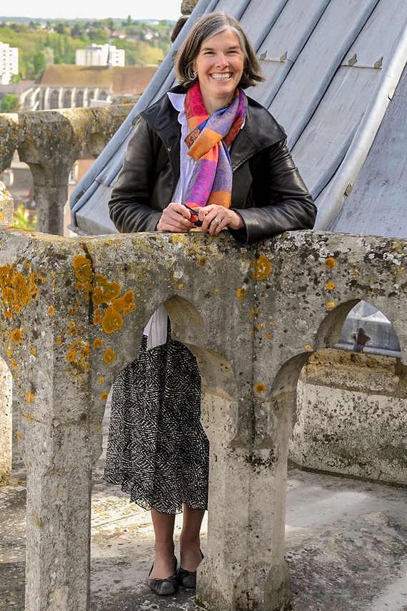 Jill Geoffrion on roof walkway