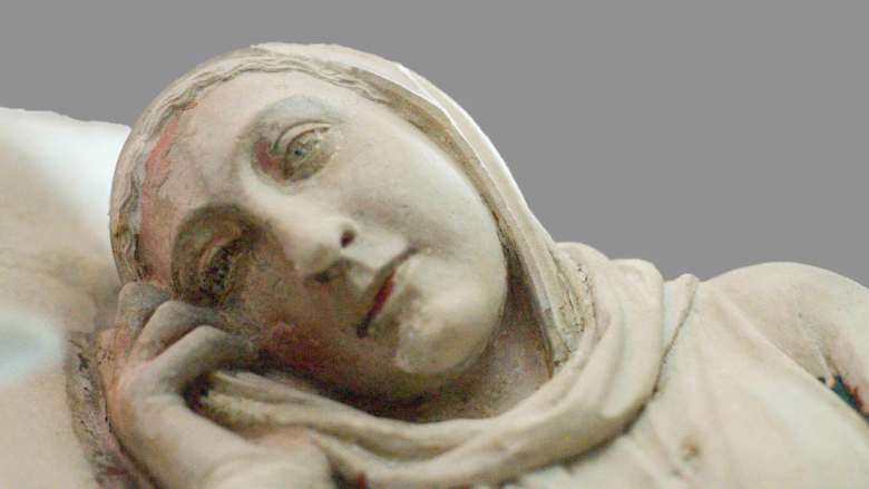 Mary Ponders, 13th century rood screen