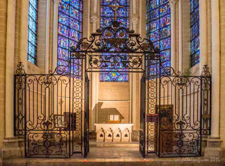 Ambulatory chapel with Bible open by Jill K H Geoffrion