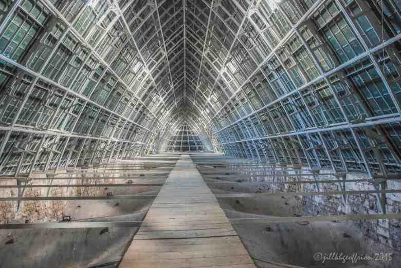 Walkway under the roof by Jill K H Geoffrion