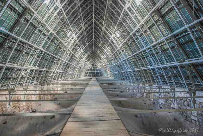 Walkway under the roof by Jill K H Geoffrion