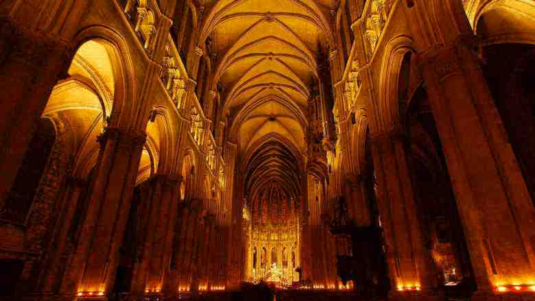 Candlelit nave by Jill K H Geoffrion