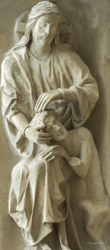 God creates Adam (13th century) by Jill K H Geoffrion
