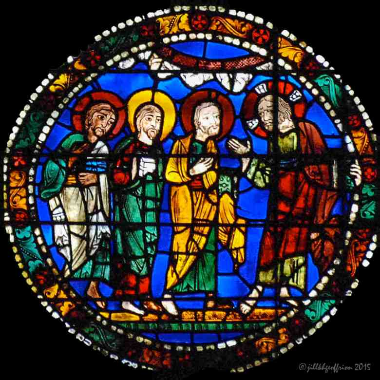 Jesus announces his passion in the Passion and Resurrection Window by Jill K H Geoffrion
