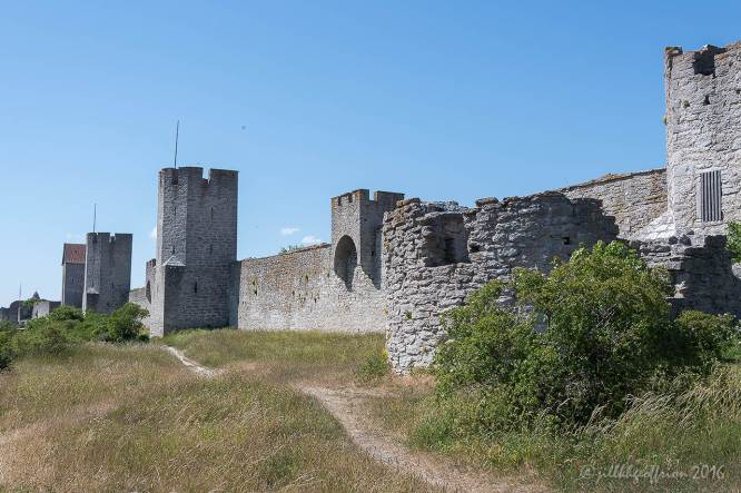 The city walls of Visby by Jill K H Geoffrion