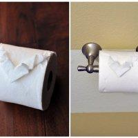 Оригами на туалетной бумаге - удиви гостей!