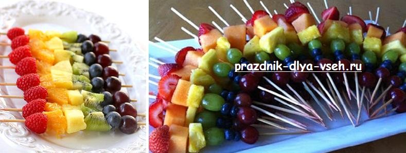 фруктовый шашлык детям