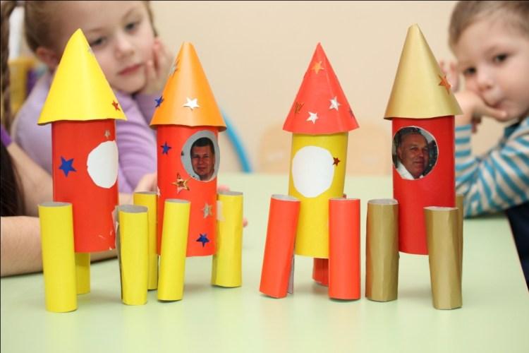 картонные ракеты