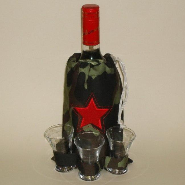 чехол для бутылки и стопок