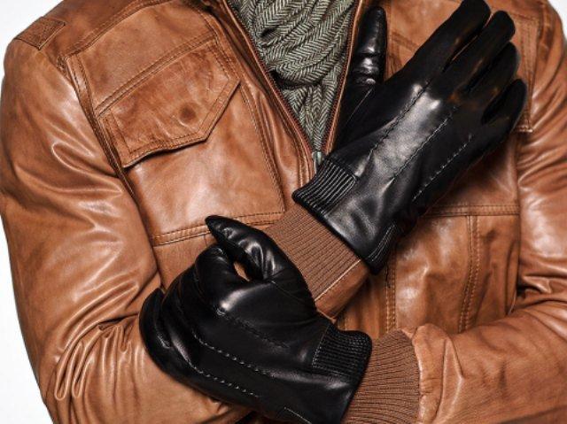 кожаные перчатки для мужа