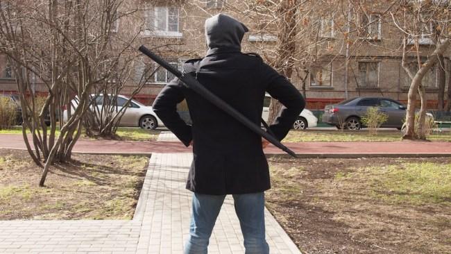 зонт в виде меча самурая
