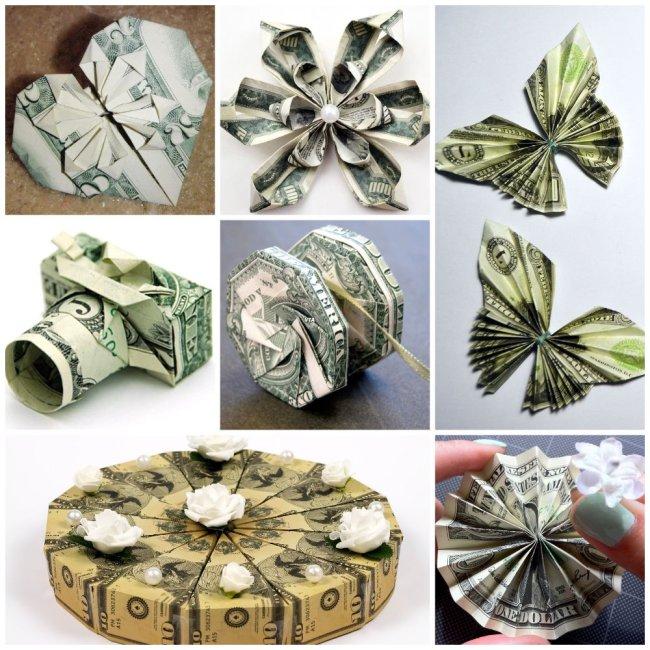 фигурки оригами из денег