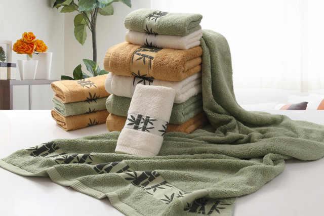 комплект банных полотенец из бамбука