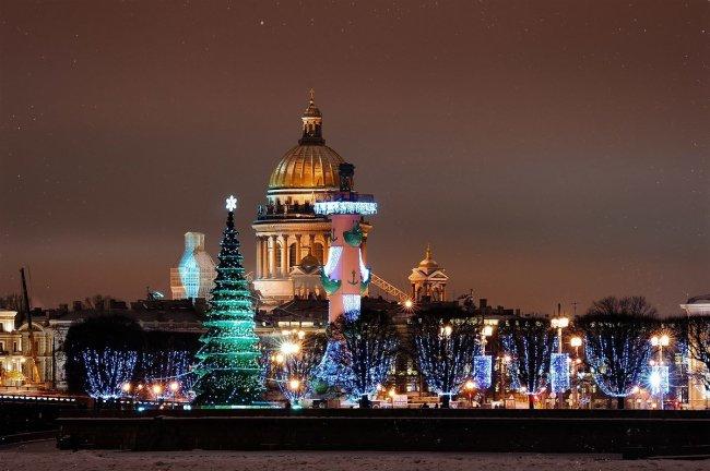 новый год в санкт-петербурге