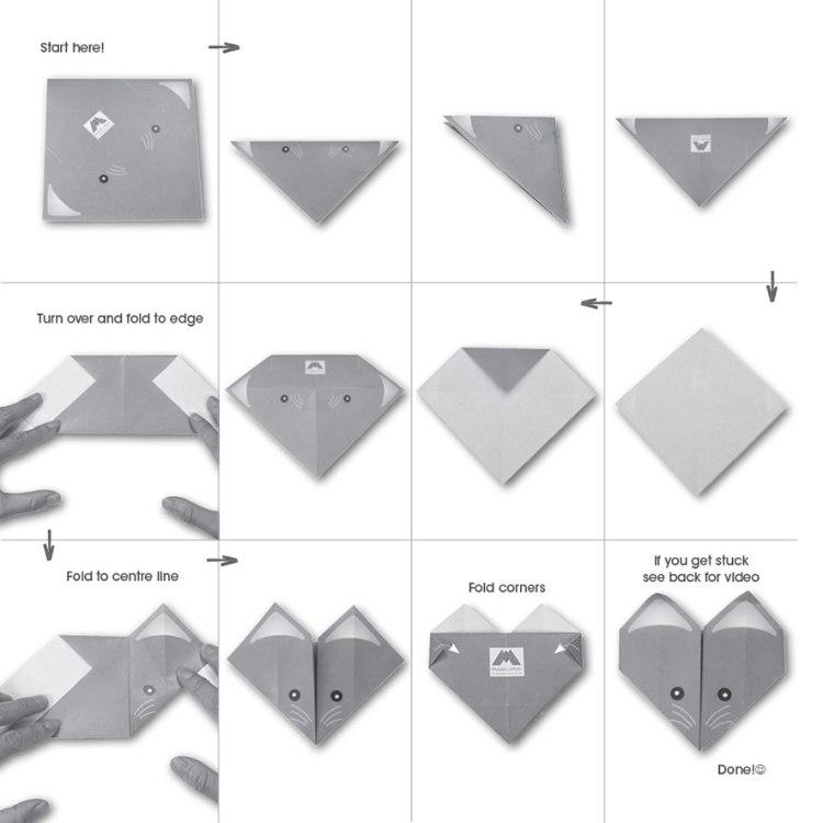 мышка в технике оригами