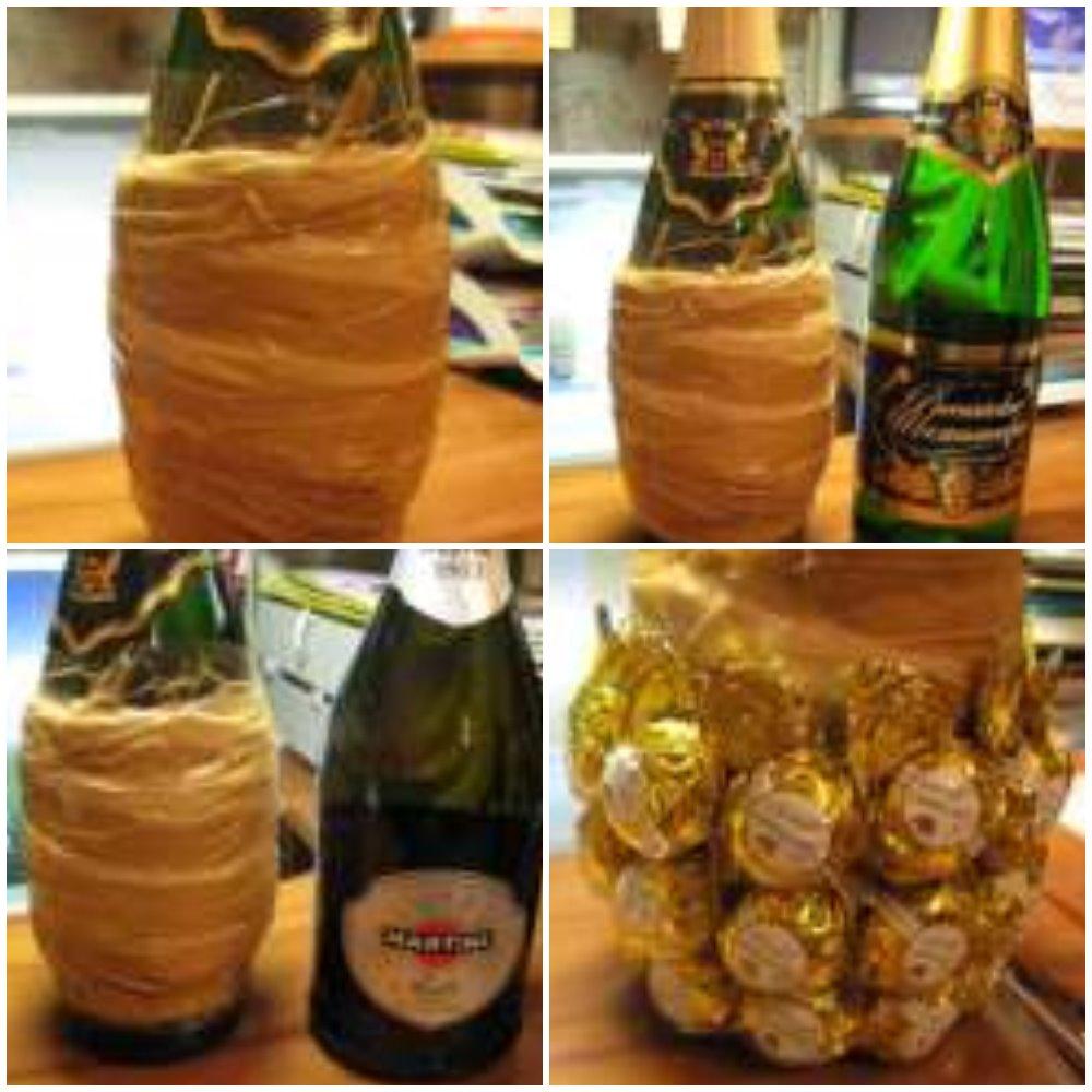 придать объем ананасу из шампанского