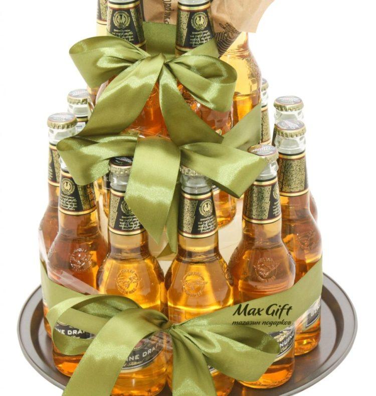 мужской торт из бутылок пива
