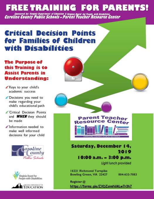 Critical Decisions Flyer