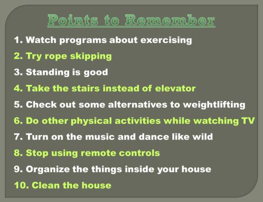 Indoor Activities for Fitness