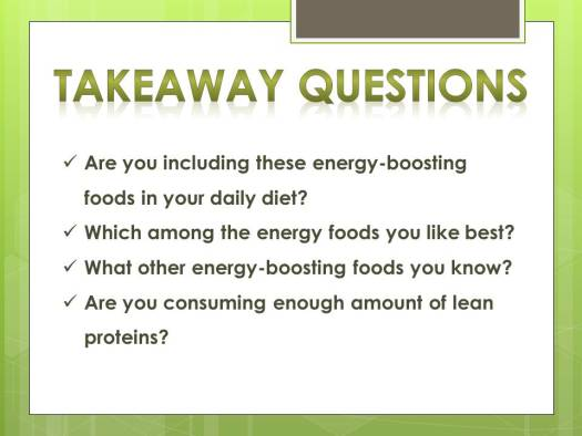 energy foods_questions