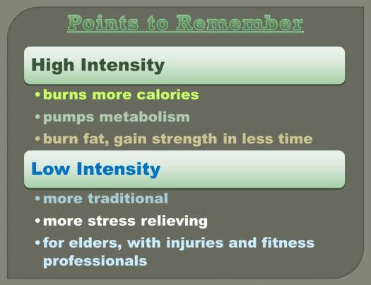 intensity workouts